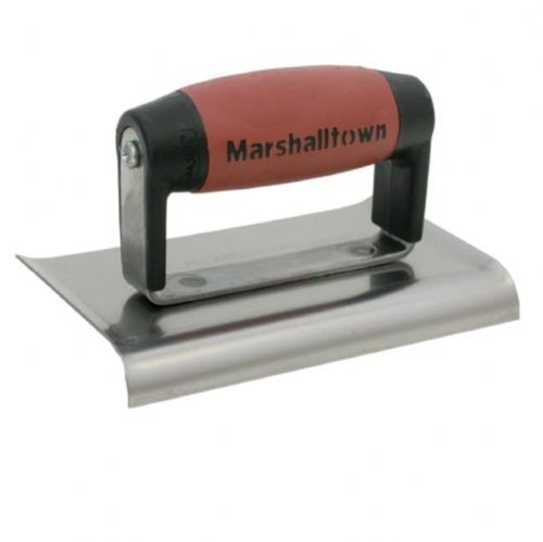 "Marshalltown M136D Cement Edger Curved End Durasoft Handle 6"" x 3"""